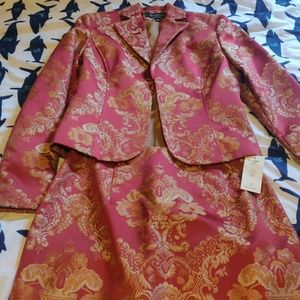 2 pc brocade style skirt suit